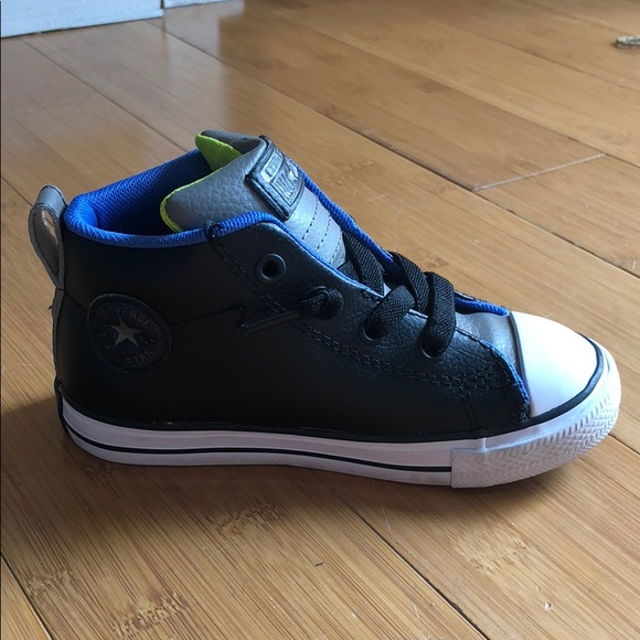 7d6ec56d52e8 Converse Other - Converse Kids All Star Street Mid Leather black 9